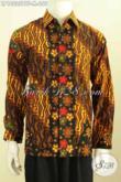 Busana Batik Pria Muda, Kemeja Batik Solo Halus Motif Klasik Kombinasi Tulis Daleman Full Furing Harga 200 Ribuan [LP10025BTF-M]