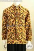 Baju Batik Klasik Pisang Bali, Hem Lengan Panjang Solo Jawa Tengah Nan Halus Proses Printing Colet, Elegan Untuk Tampil Acara Resmi [LP10100PC-M]