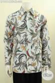 Jual Kemeja Batik Solo Elegan Mewah Motif Klasik Size XL, Baju Batik Pria Dewasa Lengan Panjang Full Furing, Penampilan Terlihat Mewah Berkelas [LP10114BTF-XL]