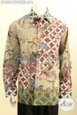 Model Baju Batik Solo Premium Buat Pria Gemuk Sekali, Busana Batik Mewah Lengan Panjang Cocok Buat Rapat Dan Acara Resmi Lainnya [LP10217TF-XXXL]