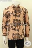 Model Baju Batik Kemeja Elegan, Busana Batik Lengan Panjang Size S Motif Klasik Printing Cabut, Pas Banget Untuk Acara Resmi [LP10335PB-S]