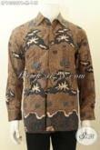 Model Baju Batik Online Untuk Pria Terkini, Kemeja Batik Solo Istimewa Lengan Panjang Bahan Adem Proses Printing Kwalitas Istimewa Harga 148K [LP10338PB-M]
