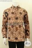 Model Baju Batik Solo Lengan Panjang Nan Istimewa, Pakaian Batik Modis Seragam Kerja Cocok Juga Untuk Acara Resmi [LP10343PB-M]
