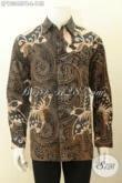 Model Baju Batik Solo Elegan Lengan Panjang Bahan Adem Motif Klasik, Kemeja Batik Printing Cabut Nan Istimewa, Pas Buat Kondangan Dan Acara Resmi [LP10346PB-L]