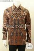 Model Baju Batik Pria Terkini, Hem Batik Solo Kwalitas Bagus Harga Terjangkau, Bikin Penampilan Gagah Dan Tampan [LP10355PB-XL]