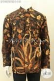 Sedia Model Baju Batik Solo Krah Shanghai Online, Kemeja Batik Lengan Panjang Motif Klasik Untuk Rapat Dan Acara Resmi Hanya 148 Ribu [LP10373PBK-L]