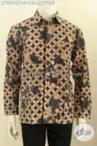 Model Baju Batik Pria Masa Kini, Pakaian Batik Elegan Motif Klasik Kawung Proses Printing Cabut Bahan Adem Nyaman Di Pakaia [LP10379PB-S]