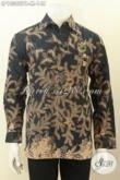 Model Baju Batik Solo Elegan, Pakaian Batik Lengan Panjang Halus Bahan Adem Motif Klasik Printng Printing Cabut Hanya 148K [LP10382PB-M]