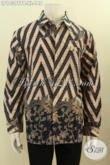 Pakaian Batik Solo Lengan Panjang Motif Klasik, Hem Batik ELegan Dan Mewah Dengan Harga Murah Untuk Tampil Mempesona [LP10397PB-XL]