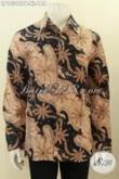 Batik Hem Solo Model Lengan Panjang, Pakaian Batik Pria Dewasa Khas Jawa Tengah Yang Bikin Penampilan Gagah Dan Elegan [LP10398PB-XL]