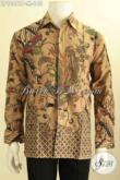 Model Baju Kemeja Lengan Panjang Bahan Batik Warna Elegan Motif Mewah Pas Banget Buat Rapat [LP10461P-M]