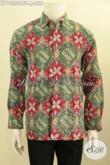 Pakaian Batik Elegan Lengan Panjang Pria Terbaru, Baju Batik Mewah Full Furing Proses Cap Tulis, Pria Terlihat Gagah Berkelas [LP10553CTF-M]