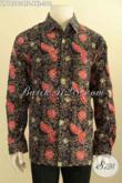 Pusat Baju Batik Solo Elegan Khas Jawa Tengah, Jual Online Kemeja Lengan Panjang Motif Bagus Proses Cap Tulis Daleman Pake Furing, Spesial Untuk Lelaki Gemuk [LP10563CTF-XXL]