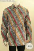 Batik Hem Kwalitas Premium Proses Cap Tulis Lengan Panjang Full Furing Motif Parang, Pakaian Batik Istimewa Untuk Pria Gemuk Tampil Berwibawa [LP10564CTF-XXL]