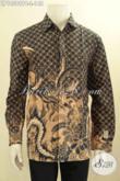 Batik Kemeja Solo Lengan Panjang Halus, Hem Batik Elegan Motif Klasik Untuk Rapat Dan Kondangan, Bahan Adem Proses Printing Cabut Hanya 148 Ribu [LP10589PB-L]