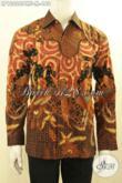 Sedia Pakaian Batik Pria Terkini, Busana Batik Solo Elegan Dan Istimewa Lengan Panjang Full Furing, Pilihan Tepat Untuk Tampil Gagah Berwibawa [LP10626PMF-M]