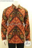 Jual Online Kemeja Batik Solo Terbaru, Pakaian Batik Elegan Mewah Terbaru Full Furing Motif Klasik Kombinsai Tulis, Pas Untuk Acara Formal [LP10631PMF-XL]