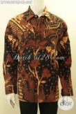Hem Batik Jawa Tangan ELegan Khsa Solo, Produk Pakaian Batik Motif Klasik Lengan Panjang Full Furing, Tampil Berwibawa [LP10640PMF-XL]