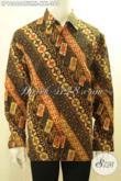 Produk Busana Batik Solo Istimewa Spesial Untuk Lelaki Gemuk, Baju Batik Lengan Panjang Full Furing Bahan Adem Motif Bagus Harga 360K [LP10666CTFMH-XXL]