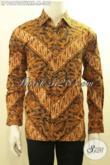 Baju Batik Pria Muda, Kemeja Batik Solo Elegan Lengan Panjang Full Furing, Produk Pakaian Batik Istimewa Yang Membuat Penampilan Lebih Berkelas [LP10670BTFMH-M]