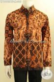 Model Kemeja Batik Pria Lengan Panjang Terbaru, Pakaian Batik Motif Klasik Elegan Daleman Full Furing Proses Kombinasi Tulis, Pas Untuk Acara Rapat [LP10902BTF-M]