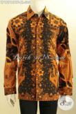 Pusat Baju Batik Solo Online, Sedia Kemeja Batik Pria Lengan Panjang Full Furing Bahan Adem Motif Klasik Kombinasi Tulis, Elegan Buat Rapat Berkelas Untuk Kondangan [LP10912BTF-XL]