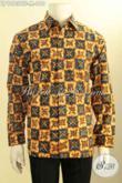Batik Hem Pria Mewah Khas Pejabat, Kemeja Batik Solo Istimewa Full Furing Lengan Panjang Motif Terbaru Proses Tulis Asli Harga 610K [LP10939TF-M]