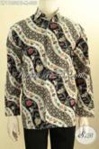 Sedia Kemeja Batik Solo Elegan Desain Terbaru, Busana Batik Lengan Panjang Motif Bagus Proses Kombinasi Tulis, Penampilan Makin Mempesona [LP11050BT-M]