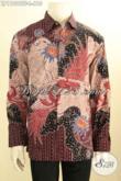 Produk Busana Batik Kerja Pria Lengan Panjang Premium, Pakaian Batik Mewah Halus Full Furing Motif Tulis Asli Khas Jawa Tengah, Cocok Buat Ngantor Dan Acara Resmi [LP11096TF-L]