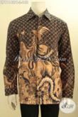Model Baju Kemeja Batik Formal Untuk Pria Tampil Berwibawa, Busana Batik Printing Motif Klasik Lengan Panjang Non Furing Hanya 148 Ribu Saja [LP11142PB-L]