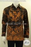 Baju Batik Hem Motif Garuda Pancasila, Busana Batik Lengan Panjang Istimewa Full Furing Proses Printing Cabut, Tampil Gagah Berwibawa [LP11284BTF-M]
