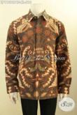 Koleksi Busana Batik Pria Terbaru, Pakaian Batik Elegan Lengan Panjang Motif Bagus Berpadu Dengan Lapisan Furing Untuk Kesan Mewah Hanya 210 Ribu Saja [LP11296PBF-XL]