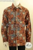 Kemeja Batik Jumbo Lengan Panjang Nan Mewah, Pakaian Batik Tulis Asli Full Furing Bahan Adem Nyaman Di Pakai, Cocok Untuk Lelaki Gemuk [LP11357TAF-XXL]