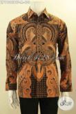 Busana Batik Elegan Dan Mewah Motif Klasik Proses Kombinasi Tulis, Pakaian Batik Pria Muda Masa Kini Yang Bikin Penampilan Gagah Berwibawa Daleman Di Lengkapi Furing [LP11395BTF-M]