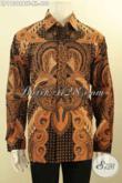 Batik Kemeja Solo Mewah Halus Motif Klasik Desain Lengan Panjang Nan Berkelas, Produk Batik Pria Koleksi Terkini Di Lengkapi Lapisan Furing Proses Kombinasi Tulis Hanya 400K [LP11398BTF-XL]