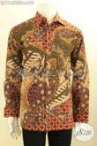 Baju Batik Mewah Yang Modis Untuk Acara Resmi Dan Ngantor, Pakaian Batik Tulis Asli Motif Klasik Model Lengan Panjang Full Furing Hanya 610K [LP11478TF-L]