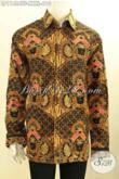 Model Baju Batik Lengan Panjang Eksklusif Untuk Lelaki Gemuk, Baju Batik Mewah Terkini Motif Elegan Klasik Tulis Asli Model Lengan Panjang Pakai Furing, Tampil Gagah Berwibawa [LP11484TF-XXXL]