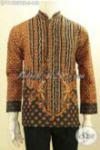Baju Kemeja Batik Koko Kerah Shanghai Elegan Dan Mewah, Busana Batik Printing Halus Motif Elegan Klasik Bahan Adem Nyaman Di Pakai [LP11492PBK-S]