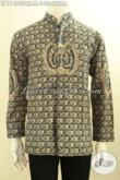 Jual Kemeja Batik Pria Model Kerah Shanghai, Hem Koko Batik Solo Printing Motif Cakar Lengan Panjang Nan Berkelas [LP11495PBK-M]