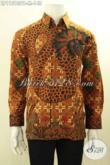 Kemeja Batik Pria Tangan Panjang Elegan Motif Terbaru Bahan Adem Proses Printing Cabut, Baju Batik Berkelas Dengan Harga Terjangkau Asli Solo [LP11513PB-M]