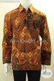 Jual Pakaian Batik Cowok Terkini, Hadir Dengan Motif Bagus Nan Berkelas Bahan Adem Proses Pritning Cabut, Istimewa Untuk Acara Formal Tampil Menawan [LP11519PB-L]
