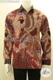Batik Kemeja Premium Lengan Panjang Pakai Furing, Busana Batik Mewah Khas Jawa Tengah Yang Menunjang Penampilan Lebih Sempurna [LP11747TF-M]