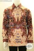 Baju Kemeja Batik Pria Lengan Panjang Premium Yang Membuat Penampilan Gagah Berkelas, Busana Batik Tulis Mewah Pakai Furing Hanya 600 Ribuan [LP11751TF-L]