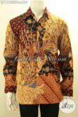 Jual Kemeja Batik Solo Lengan Panjang Istimewa Full Furing, Baju Batik Acara Resmi Tulis Asli Motif Mewah, Pria Tampil Gagah Mempesona [LP11753TF-L]