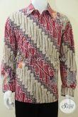Kemeja Batik Pria Lengan Panjang Klasik Modern, Batik Tulis Warna Cerah Corak Parang [LP1835TP-L]