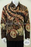 Kemeja Batik Modern Unik Lengan Panjang, Baju Batik Pejabat, Petinggi Negara, Petinggi Partai [LP2399TSF-L]