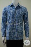 Baju Batik Lengan Panjang Motif Trendy Terbaru Saat Ini, Kemeja Batik Solo Proses Cap Smoke Lebih Halus Dan Mewah [LP3216CS-S , M , L]