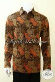 Kemeja Batik Sekar Jagad Denagn Kombinasi Warna Trendy, Baju Batik Lengan Panjang Klasik full Daleman Furing Untuk Kerja Dan Pesta [LP3477CTF-XL]