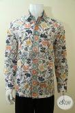 Distro Baju Batik Pria Online Koleksi Lengkap, Jual Hem Batik Cap Bledak Motif Terkini Lengan Panjang Cocok Untuk Pesta Dan Acara Formal [LP3610CD-L]