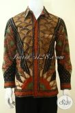Baju Hem Batik Klasik Kwalitas Istimewa Proses Tulis Tangan, Pakaian Batik Full Furing Lengan Panjang Pria Tampil Lebih Berwibawa [LP3643TF-M]